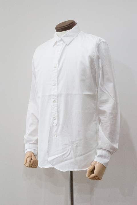 Premium Cotton Basic Shirt(WHITE)【ユニセックス】