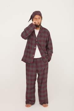 """day""pajama(RED Ombre Check)【ユニセックス】【セットアップ】"