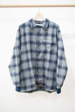 "【16AW】""rib me""pajama(NAVY Ombre Check)【セットアップ】【ユニセックス】"