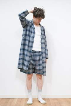 """day long""pajama(NAVY Ombre Check)【セットアップ】【ユニセックス】"
