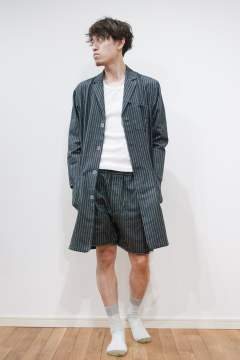 "【16AW】""day long""pajama(CHARCOAL Shaggy Stripe)【セットアップ】【ユニセックス】"