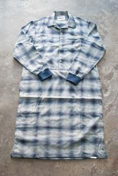 """rib me""op pajama(NAVY Ombre Check)【ワンピース】"