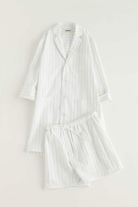 "【17SS】""day long""pajama seer sucker(WHITE×NAVY)【ユニセックス】【セットアップ】"