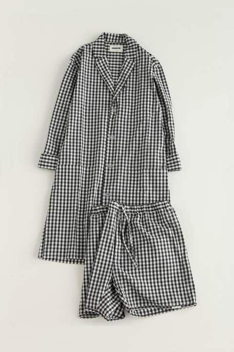"【17SS】""day long""pajama gingham check(BLACK)【ユニセックス】【セットアップ】"