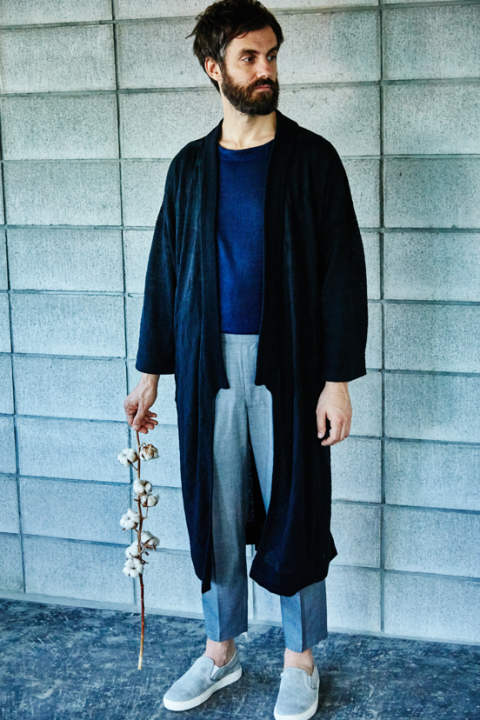 【17SS】Hikeshi Knit Gown(BLACK)【ユニセックス】