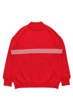 【ラスト1点】【17AW】Kaiko Line Mock Knit(RED)