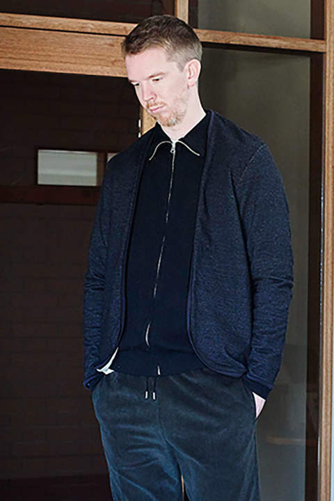 【17AW】Indigo Piping Cardigan(BLACK INDIGO)