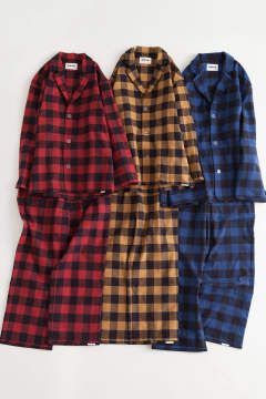 "【17AW】""day""pajama waffle block check/パジャマ(セットアップ)【ユニセックス】( YELLOW)"