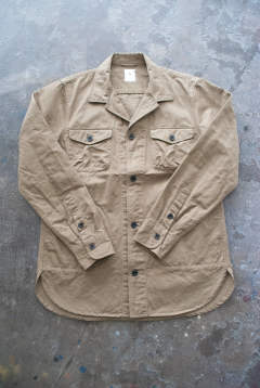 【ラスト1点】【18SS】Cotton/Linen Safari Shirt(BEIGE)