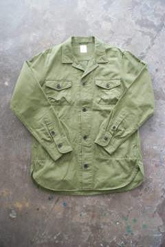 【ラスト1点】【18SS】Cotton/Linen Safari Shirt(KHAKI)