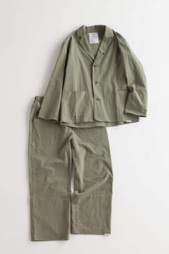"【18SS】""mil day""pajama washed cotton/パジャマ(セットアップ)【ユニセックス】"
