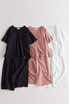"【18SS】""zen""pajama washed cotton/パジャマ(セットアップ)【ユニセックス】(WHITE)"