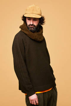 【ラスト1点】【18AW】Tasukigake Knit(BROWN)