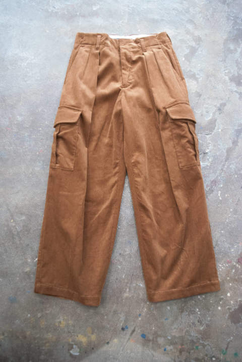【ラスト1点】【18AW】Cotton Corduroy Cargo Pants(BROWN)