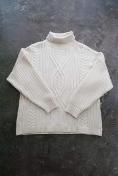【ラスト1点】【18AW】Bankan Turtle Knit(WHITE)