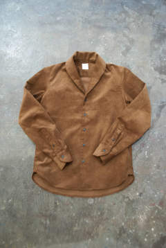 【ラスト1点】【18AW】Narrow Shawl Collar Shirt(BROWN)