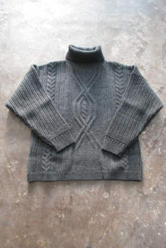 【ラスト1点】【18AW】Bankan Turtle Knit(CHARCOAL GRAY)