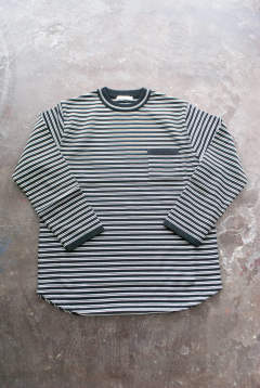 【定番作品】Border Crew neck Knit(BLACK)