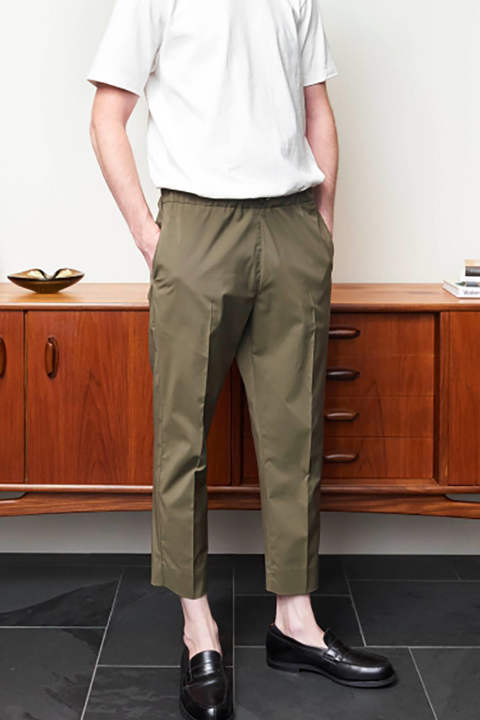 【ラスト1点】【19SS】Cropped Trousers(OLIVE)