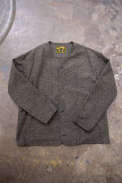 【ラスト1点】【19AW】Nep Herringborn No Collar Blouson(BROWN)