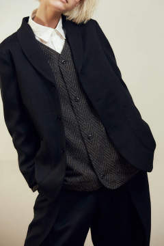 【ラスト1点】【19AW】Nep Herringborn No Collar Blouson(GRAY)