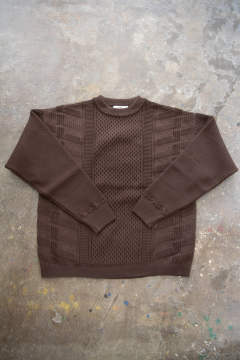 【ラスト1点】【19AW】Arare Knit(BROWN)