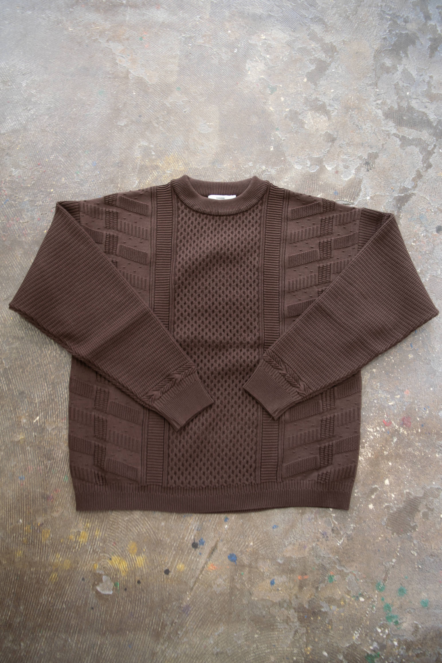 【19AW】Arare Knit(BROWN)
