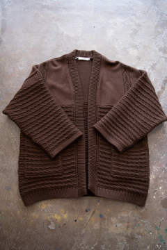 【ラスト1点】【19AW】Minori Hanten Knit(BROWN)