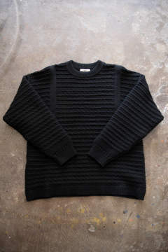【19AW】Waranawa Knit(BLACK)