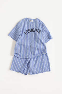 "【20SS】""nite game""pajama(LIGHT BLUE W STRIPE)【ユニセックス】【セットアップ】"